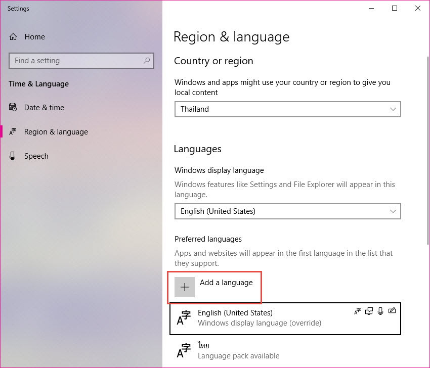 Windows 10 - How to Add Language (2)