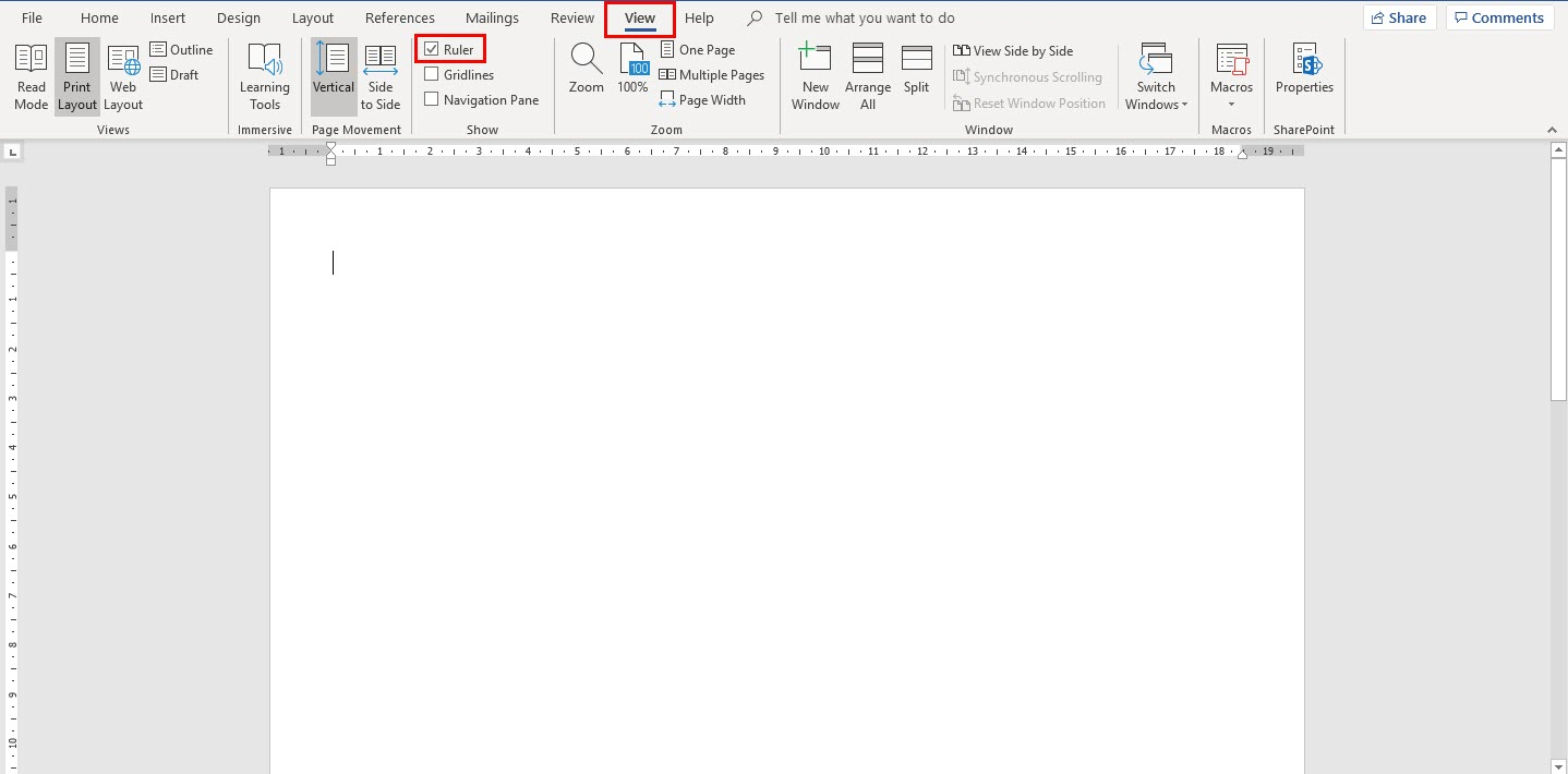 Microsoft Word - Show Ruler